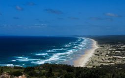 Пляж океана на острове Moreton, Квинсленде, Австралии Стоковые Фотографии RF
