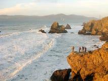 Пляж океана, Сан-Франциско, Калифорния стоковое фото