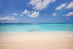 Пляж океана тропического острова Стоковая Фотография RF
