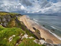 Пляж около Castlerock, Северной Ирландии Стоковая Фотография