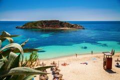 Пляж оратории Playa в Мальорке Стоковое фото RF