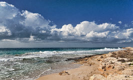 пляж осени Стоковая Фотография