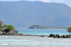 Пляж острова девственницы Стоковые Изображения