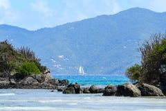 Пляж острова девственницы Стоковые Фото