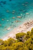 Пляж острова лефкас Стоковое Изображение