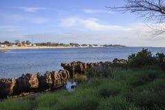 Пляж острова Мозамбика, Стоковая Фотография RF
