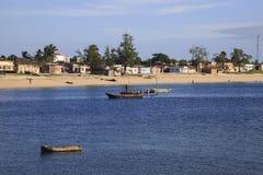 Пляж острова Мозамбика, Стоковые Изображения RF