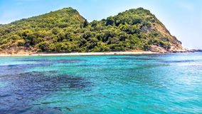 Пляж острова стоковые фотографии rf