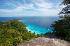 Пляж острова Miang Koh Similan в национальном парке Стоковые Фото