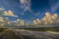 Пляж острова Sanibel Стоковые Изображения RF