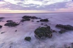 Пляж долгой выдержки (HDR) Стоковые Фотографии RF