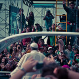 Пляж Папы Фрэнсиса Праздновать Массы На Copacabana стоковые фотографии rf