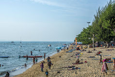 Пляж Паттайя Jomtien Стоковая Фотография RF