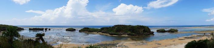 Пляж песка звезды острова в Окинаве, Японии Iriomote Стоковые Фотографии RF