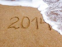 Пляж песка и волна, 2014 Стоковые Фото