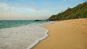 Пляж песка и море Стоковая Фотография RF