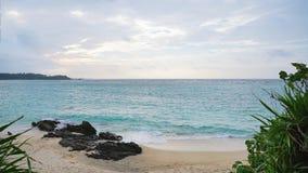 Пляж песка и небо моря Стоковая Фотография RF