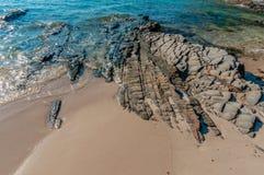 Пляж песка моря Стоковые Фото