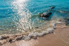 Пляж песка моря Стоковое Изображение