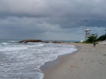 Пляж песка моря Стоковые Фотографии RF