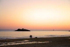 Пляж петь Стоковое фото RF