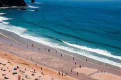 Пляж побережья Vicentina в Алгарве Португалии Стоковое Фото