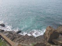 Пляж Португалии Ericeira Стоковое фото RF