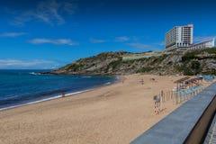 Пляж Порту Novo в Lourinha, Португалии Стоковые Фотографии RF