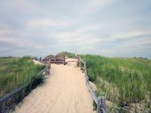 Пляж посадки Crosby, Brewster, Массачусетс (треска накидки) Стоковое Изображение RF