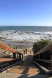 Пляж положения Лео Carrillo, Malibu Калифорния Стоковые Изображения