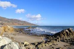 Пляж положения Лео Carrillo, Malibu Калифорния Стоковое фото RF