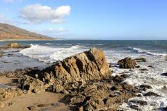 Пляж положения Лео Carrillo, Malibu Калифорния Стоковые Изображения RF