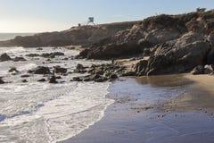 Пляж положения Лео Carrillo, Malibu Калифорния Стоковое Фото