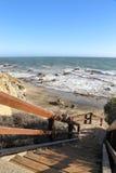 Пляж положения Лео Carrillo, Malibu Калифорния Стоковое Изображение RF