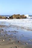 Пляж положения Лео Carrillo, Malibu Калифорния Стоковое Изображение