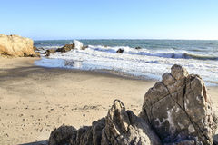 Пляж положения Лео Carrillo, Malibu Калифорния стоковые фото