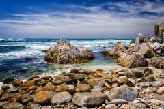 Пляж положения Asilomar стоковое изображение rf