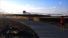 Пляж положения Dockweiler видеоматериал