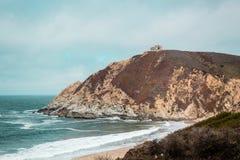 Пляж положения Montara в San Mateo, Калифорнии стоковое фото rf