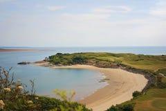 Пляж полуострова полем для гольфа Стоковые Фото