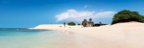 Пляж Прая de Chaves Chaves в Boavista Кабо-Верде - Cabo Verd Стоковые Фотографии RF