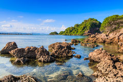 Пляж предпосылки каменный Стоковые Изображения RF
