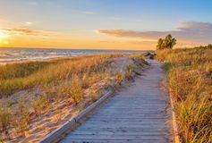 Пляж променада Стоковое фото RF