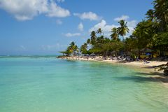 Пляж пункта голубя, Тобаго Стоковое Изображение RF