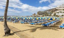 Пляж, Пуэрто-Рико, Gran Canaria - 1 Стоковые Фото