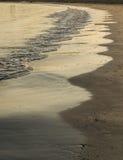 Пляж развевает конспект стоковая фотография