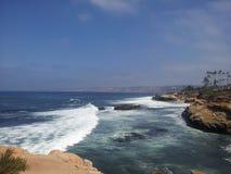 Пляж раковины на La Jolla стоковая фотография rf