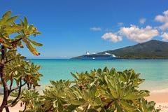 Пляж рая в острове тайны, Вануату, Южной части Тихого океана Стоковые Фотографии RF