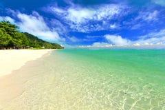 Пляж рая в острове maiton Koh, Пхукете, Таиланде Стоковые Изображения