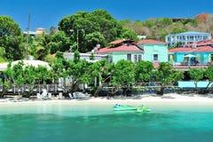 Пляж рая в острове St joan Стоковая Фотография RF
